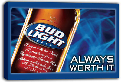 scrb219 Bud Light Beer Stretched Canvas Print Decor Sign(China (Mainland))