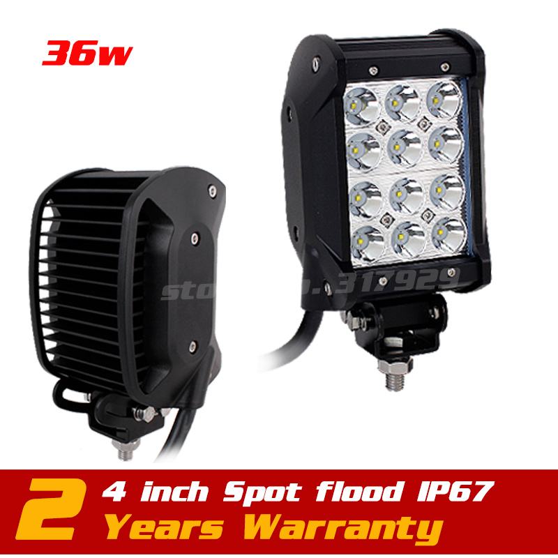 4inch 36w LED Work Light Bar Adjustable Bracket Truck Tractor ATV Off-road Fog 12v 24v Worklights Seckill 27w 18w - Victory Group Asia Co.,Ltd store