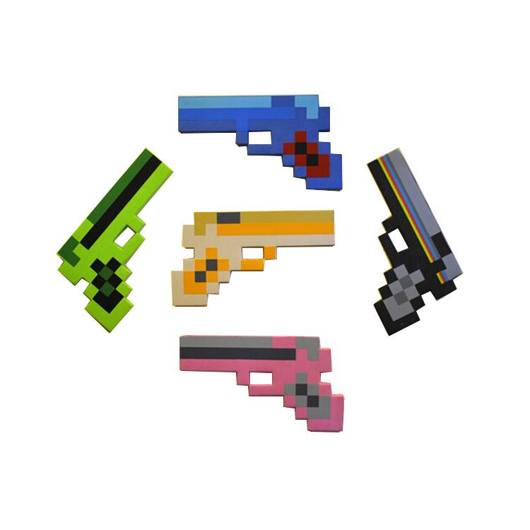 Wholesale 1 piece newest designed minecraft blue pistol, minecraft iron diamond gun,pistol toy for child baby toys of game(China (Mainland))