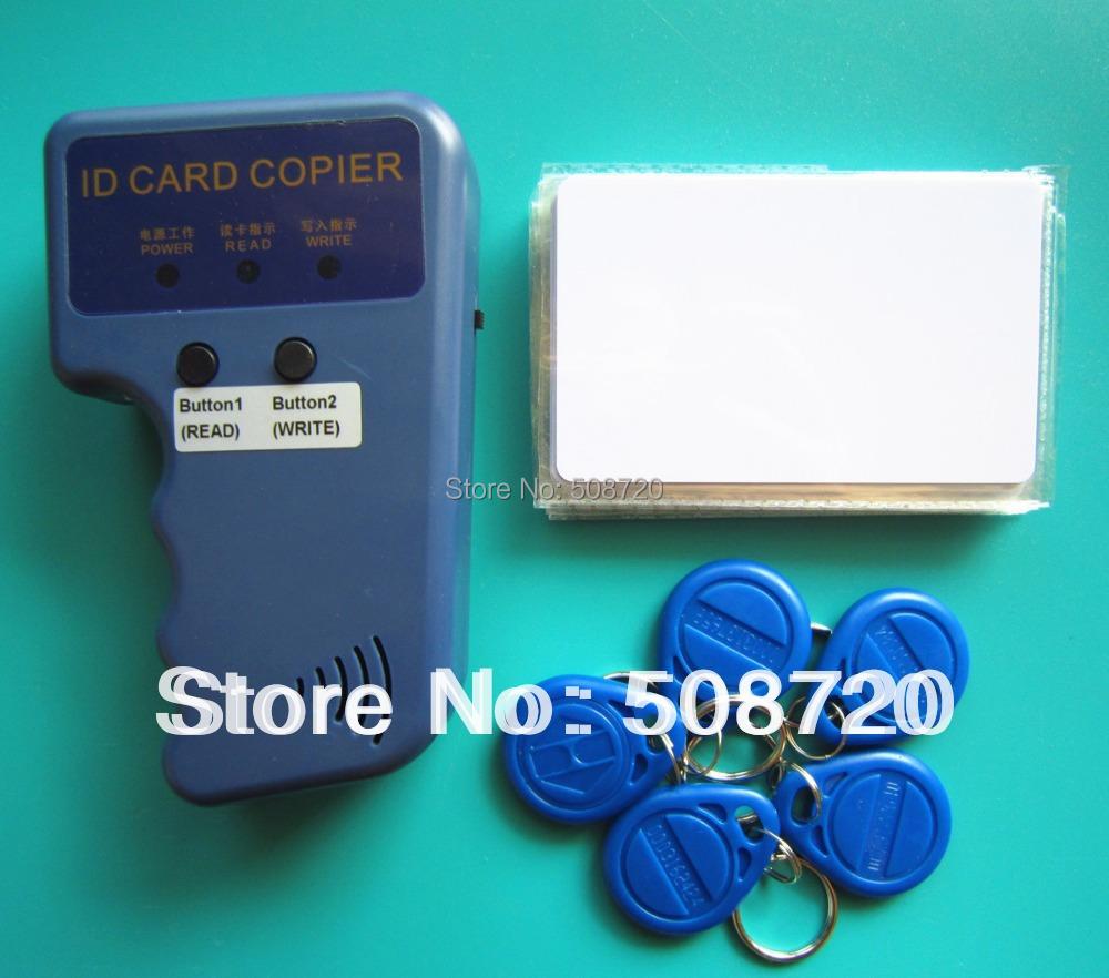RFID Handheld Duplicator 125KHZ Card copier writer+EM4305 rewritable tags+T5577 cards - YARONG TECH'S STORE store