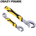 CRAZY POWER Multi function 2 pcs Adjustable Wrenches Portable Quick Snap and Grip torque wrench Fast