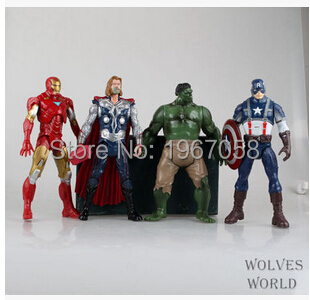18cm 4pc/set my little Marvel The Avengers Hulk Captain Batman Figure Doll Action Super Hero Home Decor Gift for Kids poni Toys