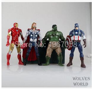 18cm 4pc/set my little Marvel The Avengers Hulk Captain Batman Figure Doll Action Super Hero Home Decor Gift for Kids poni Toys