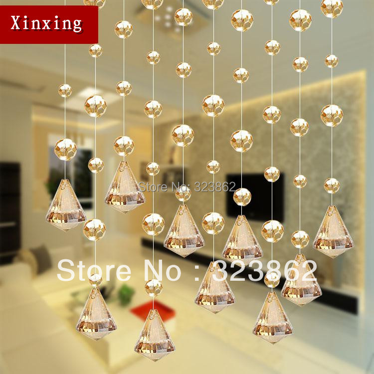 Free shipping cheap crystal glass bead curtains for door & window decoration(China (Mainland))