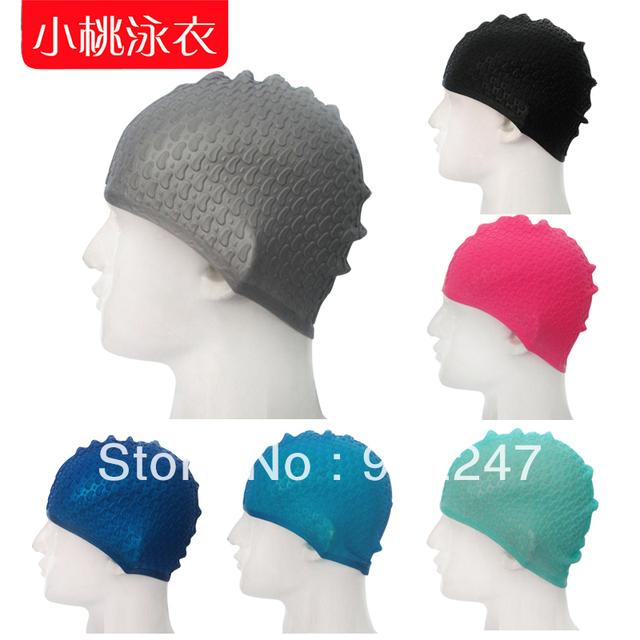 2013 fashion swimwear professional drop silica gel silicone cap plus size swim swimming caps hat women men accessories