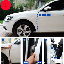 Car edge of 4 doors sound insulation rubber sealing strip,3M car door seal  rubber strip, noise insulation sealing strips 12M(China (Mainland))
