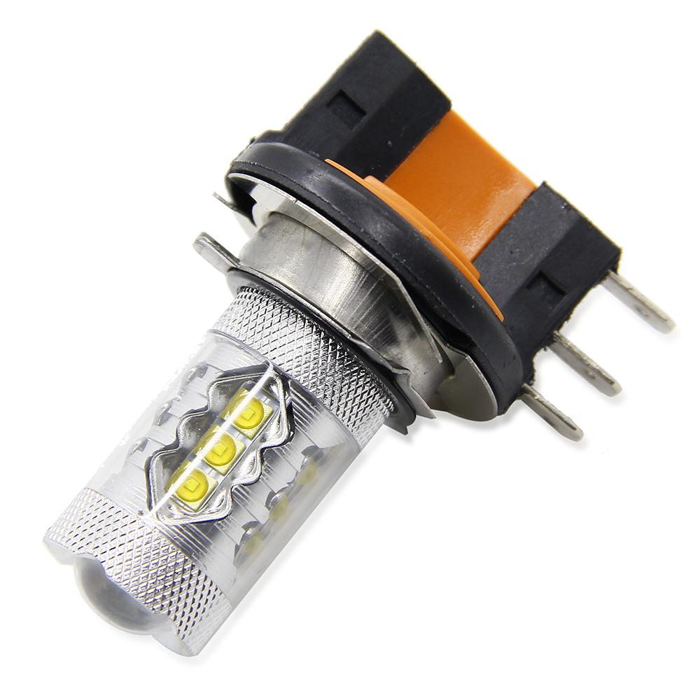 2X Car H15 80W 16-SMD LED Fog Headlight Foglight DRL 6000K Light Bulbs Canbus Cree Chips LED Light Bulb 8000LM For Mercedes Benz