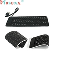 Ecosin 2 Portable USB Mini Flexible Silicone PC Keyboard Foldable for Laptop Notebook Black wired keyboard