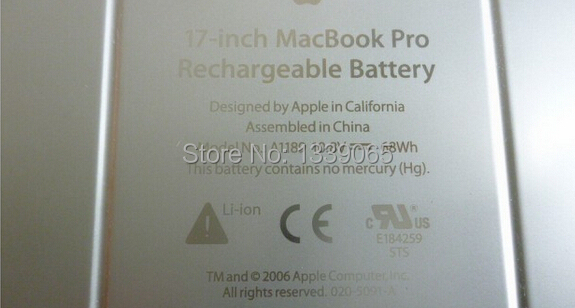 NEW Laptop Battery A1189 For Apple Macbook Pro 17 A1151 MA092 MA611 MA897 MA458 <br>