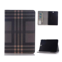 Luxury plaid Pattern Leather Case For Samsung Galaxy Tab A 9.7 T550 T555 Tablet Stand Cover smart case