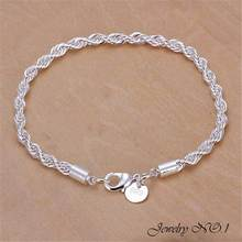 Bracelet 925 Silver Bracelet 925 Silver Fashion Jewelry For Men/Women Bracelets Wholesale Free Shipping