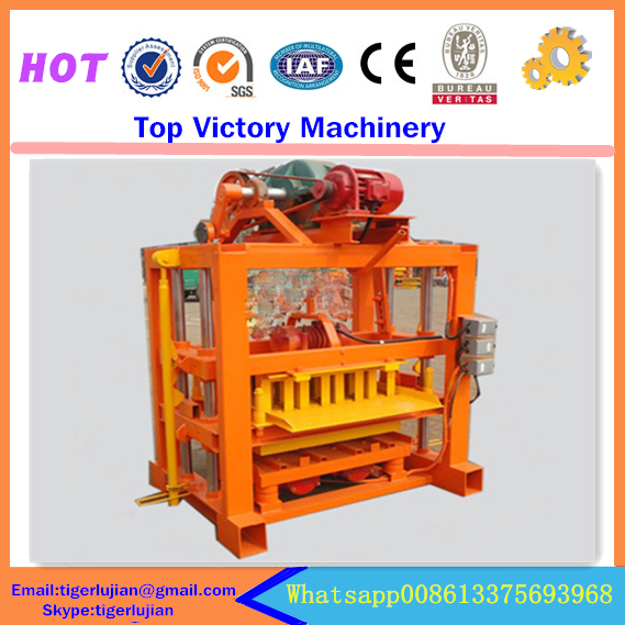 Machines Making Plastic Bags Equipamento Compressed Earth Block Machine Qtj4-40 Semi-automatic Concrete Brick - Top Victory Industrial store