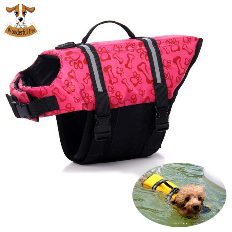 New Pet Dog Life Jacket Cat Surfing Safety Vest Preserver Swimming Boating XS Small Medium Extra Large Reflective Carrier Bag(China (Mainland))
