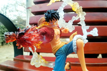 Anime One Piece Monkey D Luffy Gomu Gomu no Red Hawk Fighting Version PVC Action Figure Doll Toys