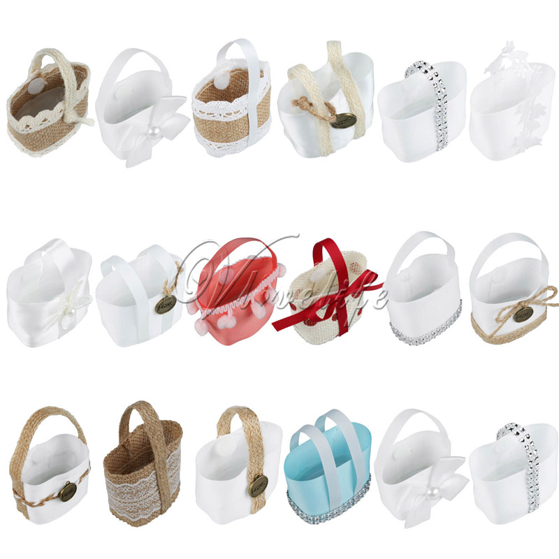50PCS Wedding Candy Boxes Hanging Basket Candy Basket for Wedding Event Party Decor Wedding Favor Candy Bags Gifts(China (Mainland))