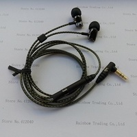 In stock fast shipping top quality ie800 earphone use the best drive units and cable to make the excellent sound quality.