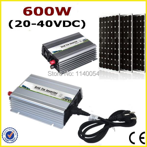600W Grid Tie Inverter 120V or 230VAC Pure Sine Wave Inverter 24V Panel 48 cells with MPPT Functions Solar Power Inverter<br><br>Aliexpress