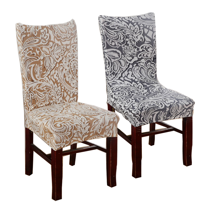 1 piece plum chair covers cheap jacquard stretch chair for Plum dining room chairs