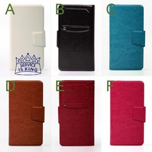 """Fit 5.3"""" to 5.8"""" phone Flip Stand Universal Case for Xiaomi 3S / Red rice Note  Huawei Honor 3X / ZTE Grand S II / OPPO Find 7"""