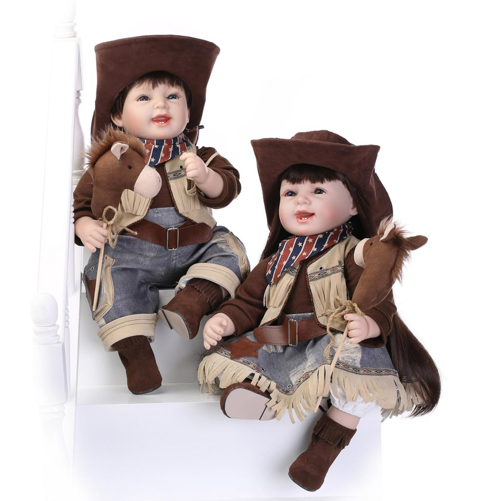 New United States style cowboy dolls silicone reborn doll popular hot selling christmas gifts ornaments creative manual<br><br>Aliexpress