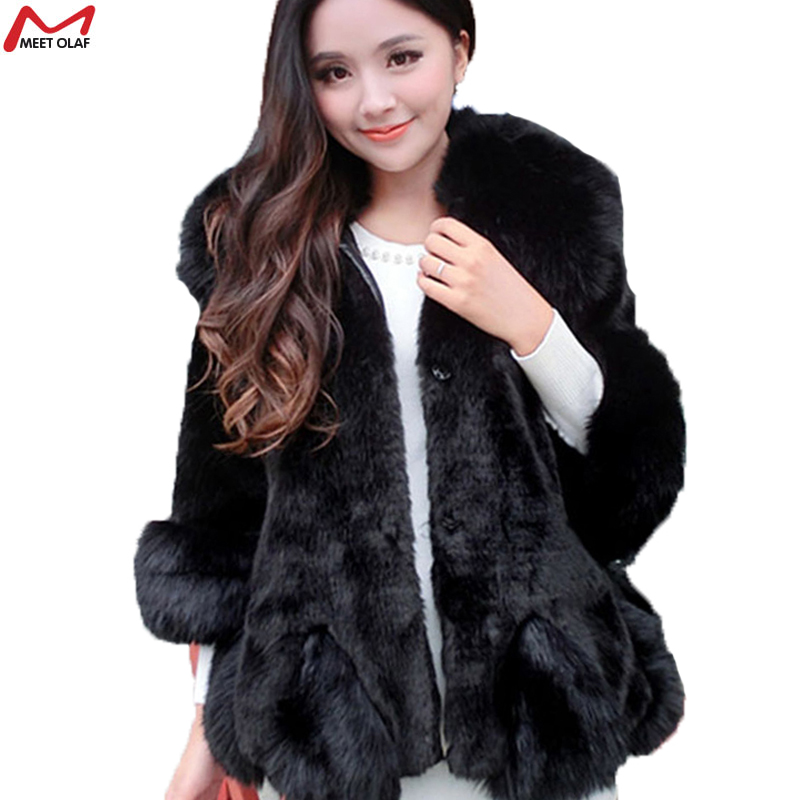 2015 Fashion Winter Women Warm Faux Fur Coat Women Vintage Mink Fox Jacket Fast ShippingОдежда и ак�е��уары<br><br><br>Aliexpress