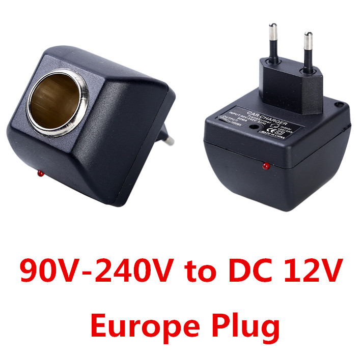 Europe Plug Car Charger Cigar Cigarette Lighter 110V 220V AC to DC 12V Car Power Adapter Converter Car Styling Free Shipping(China (Mainland))