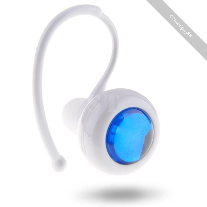 1pcs white stereo bluetooth earphone wireless headset for cell phone iphone i. Black Bedroom Furniture Sets. Home Design Ideas
