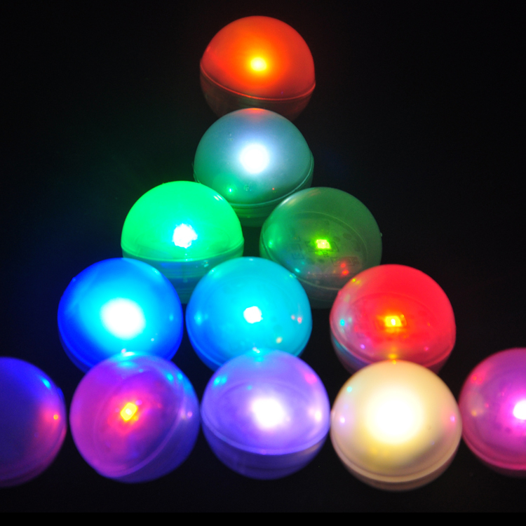 Wedding Decoration Lights !!! Floating Mini LED Light Ball Battery Operated Submersible LED Light For Wedding Events Party Decor(China (Mainland))