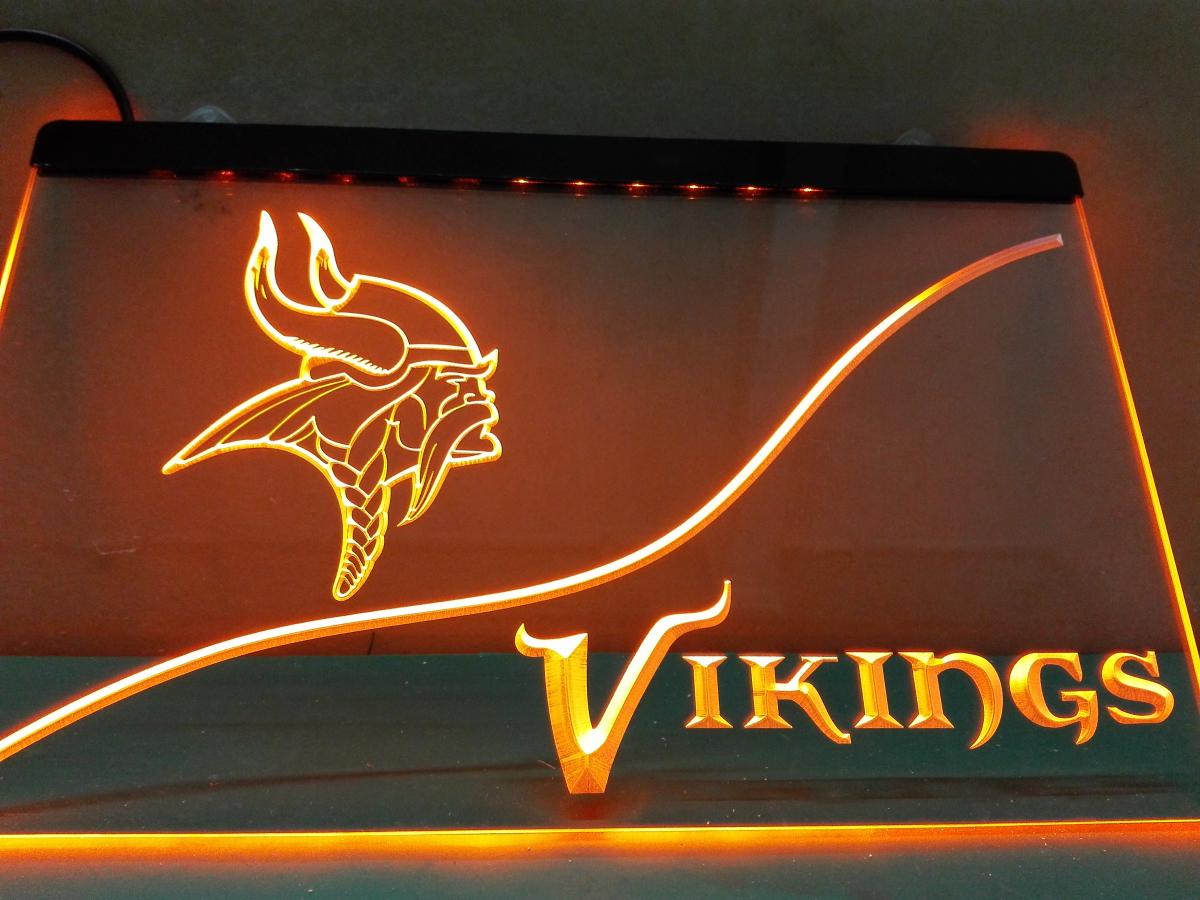 LD506- Minnesota Vikings-LED Neon Light Sign home decor crafts(China (Mainland))