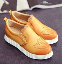 2015 Casual Women Flats Vintage Solid Hollow Loafers 3 Colors British Style Shoes Woman XWB052(China (Mainland))