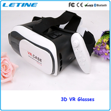 2016 Virtual Reality Headset 3D Glasses Google Cardboard Gear VR Box DVD Movies For Smartphone Wireless 3D Phone Glasses GD03-3