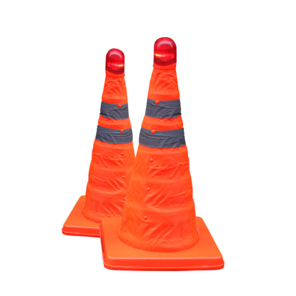 32cm Reflective Oxford Fabric PP Folding Road Cone Barricades Traffic Cone Traffic Facilities Without Top Light Traffic Safety(China (Mainland))