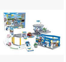 Robocar поли парковки игрушки 2 робот автомобиля + 1 стоянки коробки цвета подарки для детей