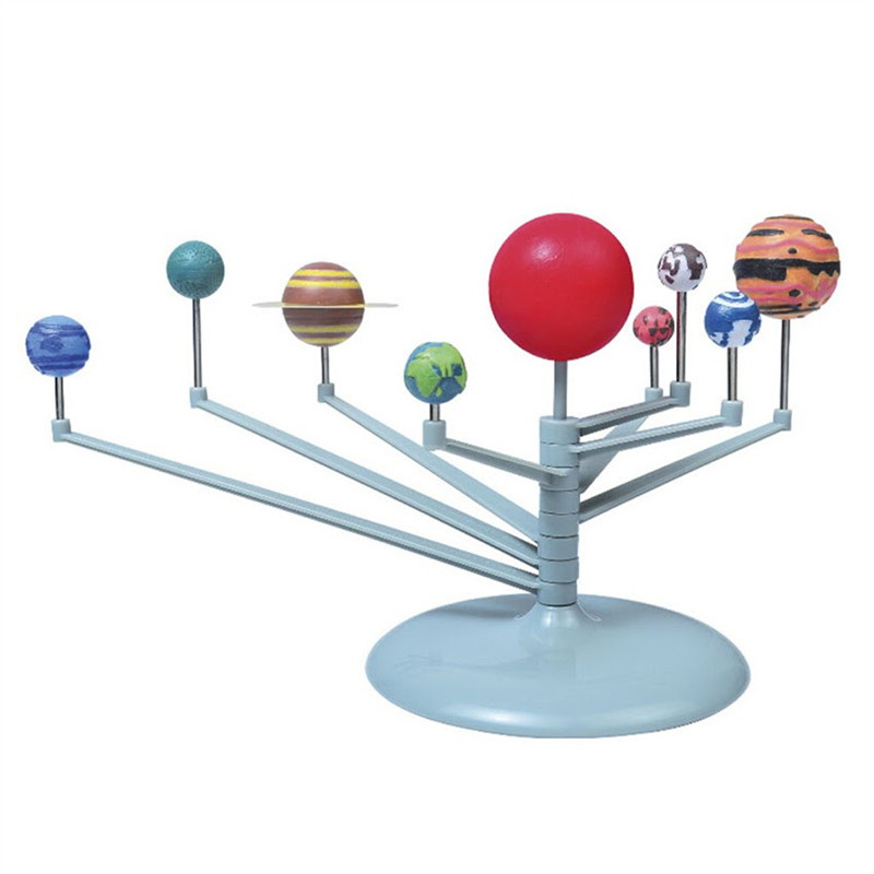 9 Planet Solar System DIY Painting Toy Science Education Instruction Media(China (Mainland))