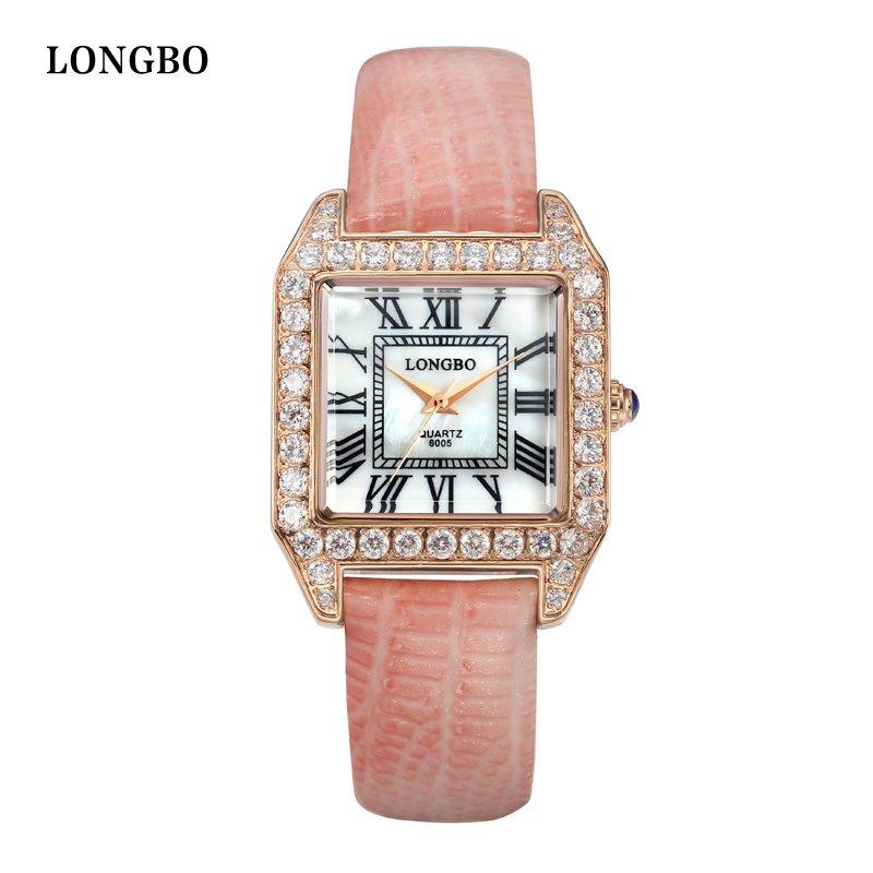 Long Bo watches ladies fashion watch square Diamond Dial waterproof belt, quartz watch<br><br>Aliexpress