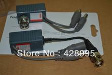 Freeshipping 10 pz cctv audio video balun transceiver bnc utp rj45 con audio video e power over cat5/5e/6 cavo  (China (Mainland))