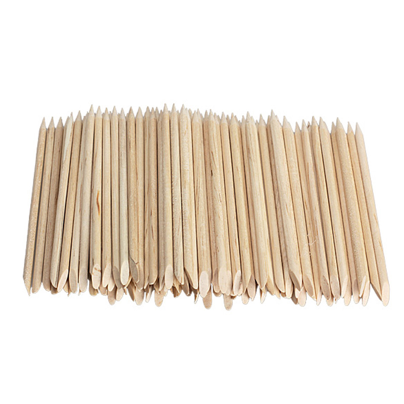 100pcs Nail Art Orange Wood Stick Cuticle Pusher Remover for Manicures Nail Tool<br><br>Aliexpress