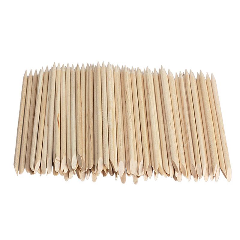 New 80-100pcs 1 Pack Nail Art Orange Wood Sticks Cuticle Pusher Nail Cuticle Remover Manicures Nail Art Care Tools #BSEL(China (Mainland))