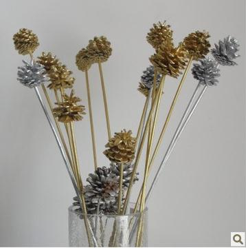 Echinacea dried flowers Mikie natural home living room placed flowers artificial flowers floral decoration material with gold an<br><br>Aliexpress