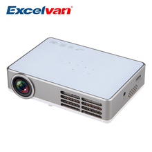 Excelvan LED9 Android 4.4 DLP Mini Projector Wireless WiFi Full 3D HD Proyector Home Theater Beamer 1280*800pixels 3000Lumens(China (Mainland))