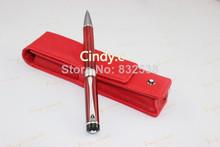 Бесплатная доставка новых классические канцелярские принадлежности, кожаная сумка + красный шариковая ручка № 133 # ( пять цвет чехол для выбрал )