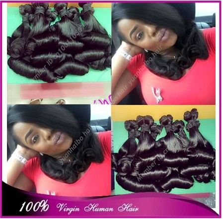 Best Quality 7A 1b# 3pcs/lot virgin russian hair magic curl aunty funmi hair free shipping<br><br>Aliexpress