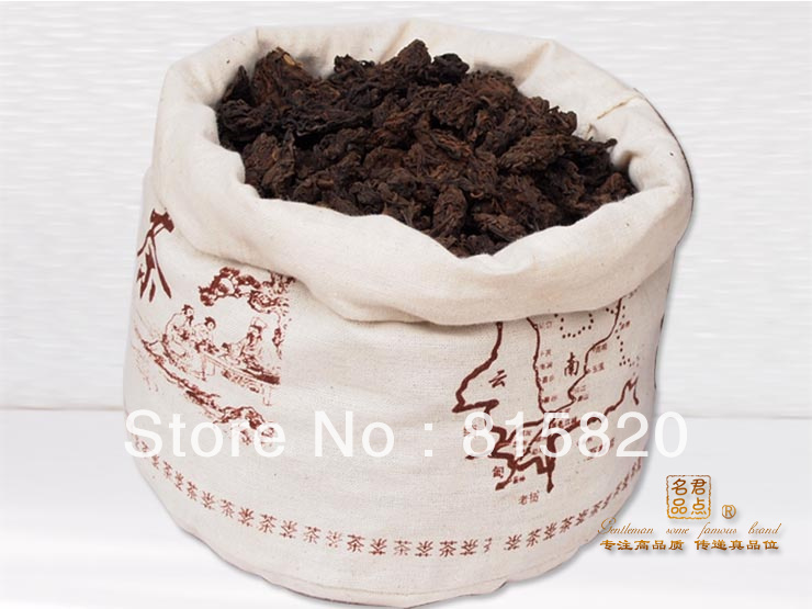 2000year LaoChatou 10kg MengHai old tree Laochatou loose Ripe puer tea free shipping