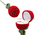 Hote New Elegant Fashion Red Rose Flower Jewelry Gift Ring Earrings Pendant Box Case Wedding decoration