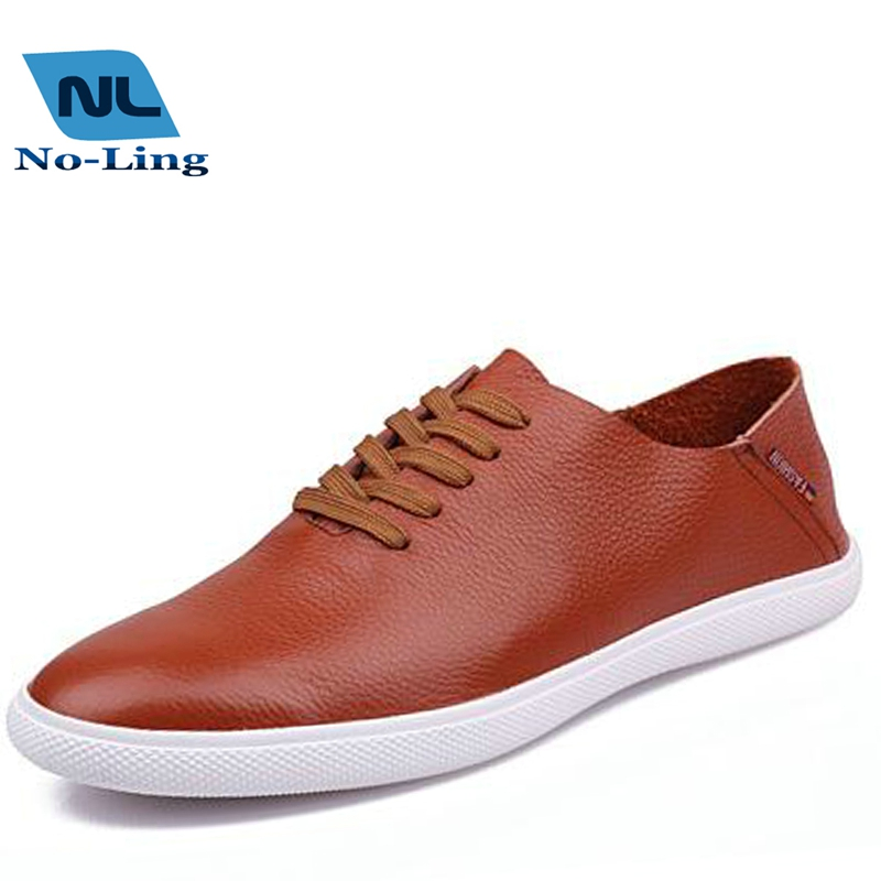2016 mens casual leather shoes autumn brand