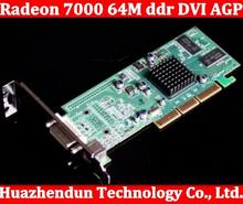Brand New ATI Radeon 7000 64M ddr DVI AGP Graphic Card Video Card free shipping high quality