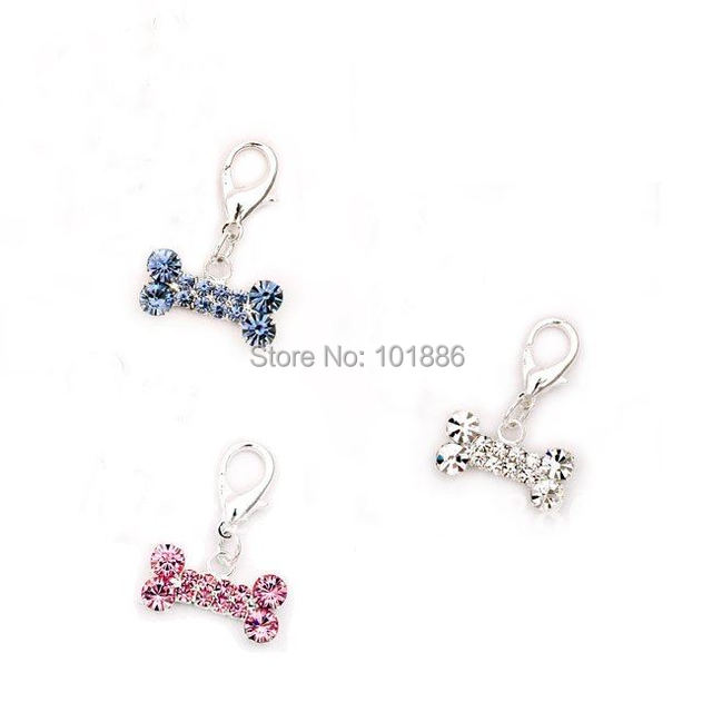 Free Shipping Personalized Rhinestone Bone Charm For Pet Dogs Collar