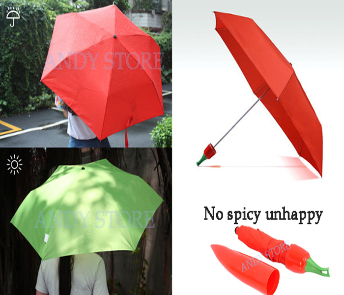 New Compact Three Folding Rain Umbrella Children Creative Vegetable Portable Travel Foldable Umbrella Rain EMS Free Shipping(China (Mainland))