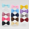 New 14 color High Quality 3 inch Grosgrain silk Ribbon Boutique Hair Bows With Clip Hairpins