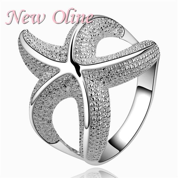 R538-8 925 Silver Ring ! 100% brand new stat design wedding rings ! Luxury high quality silver rings for women free shipping(China (Mainland))